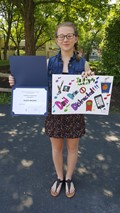 8th Grade Student, Alexis Brown, wins Chenango County Traffic and Safety Poster Contest.