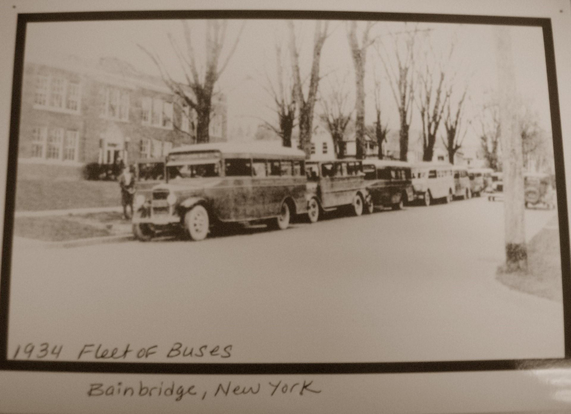 Fleet of Buses - 1934