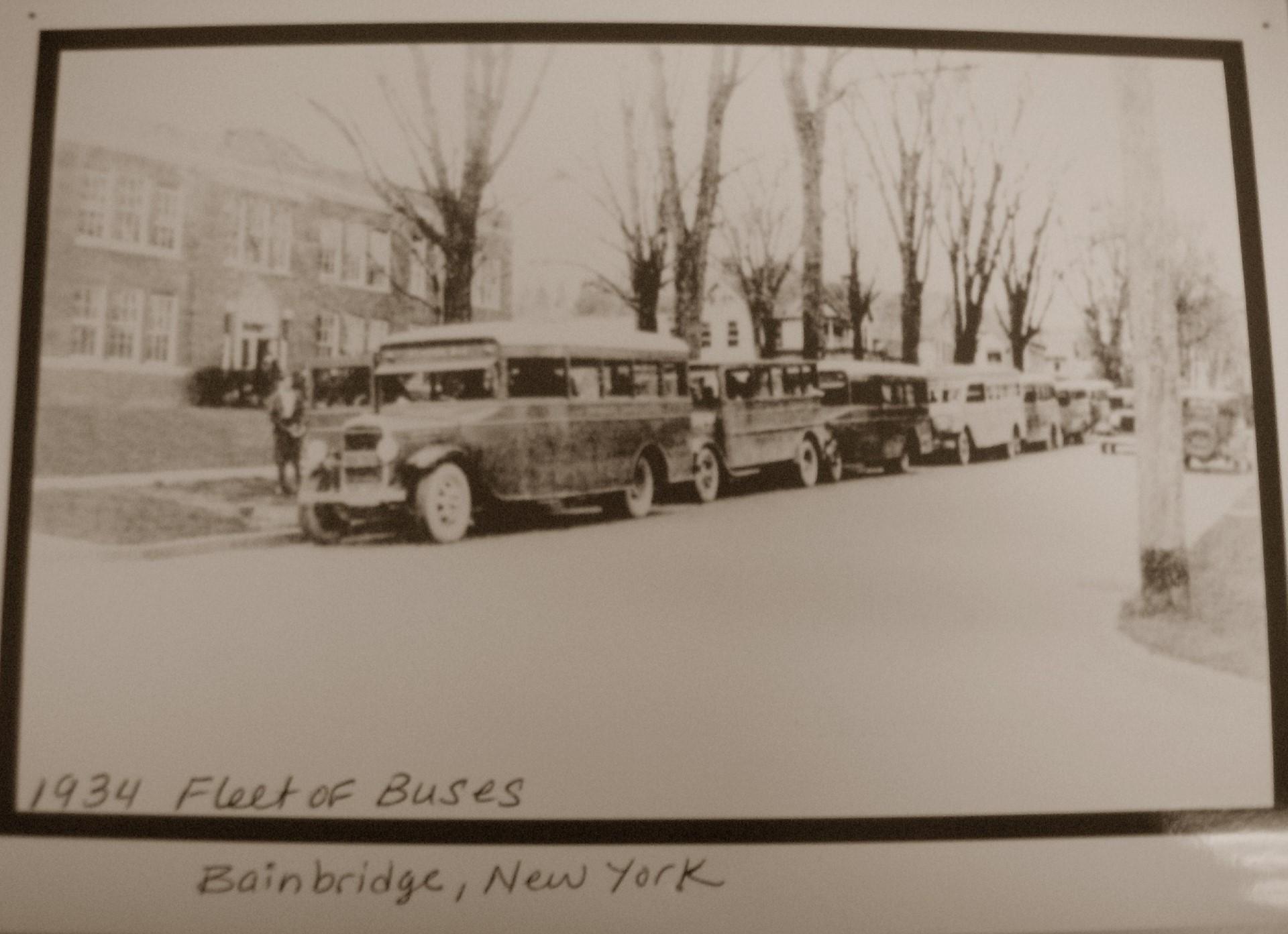 Fleet of Buses - 1934