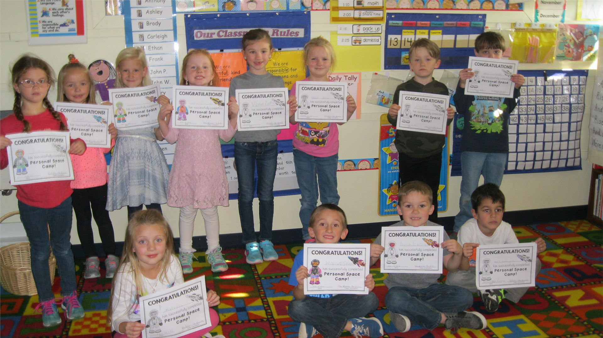 Personal Space Camp Graduates!