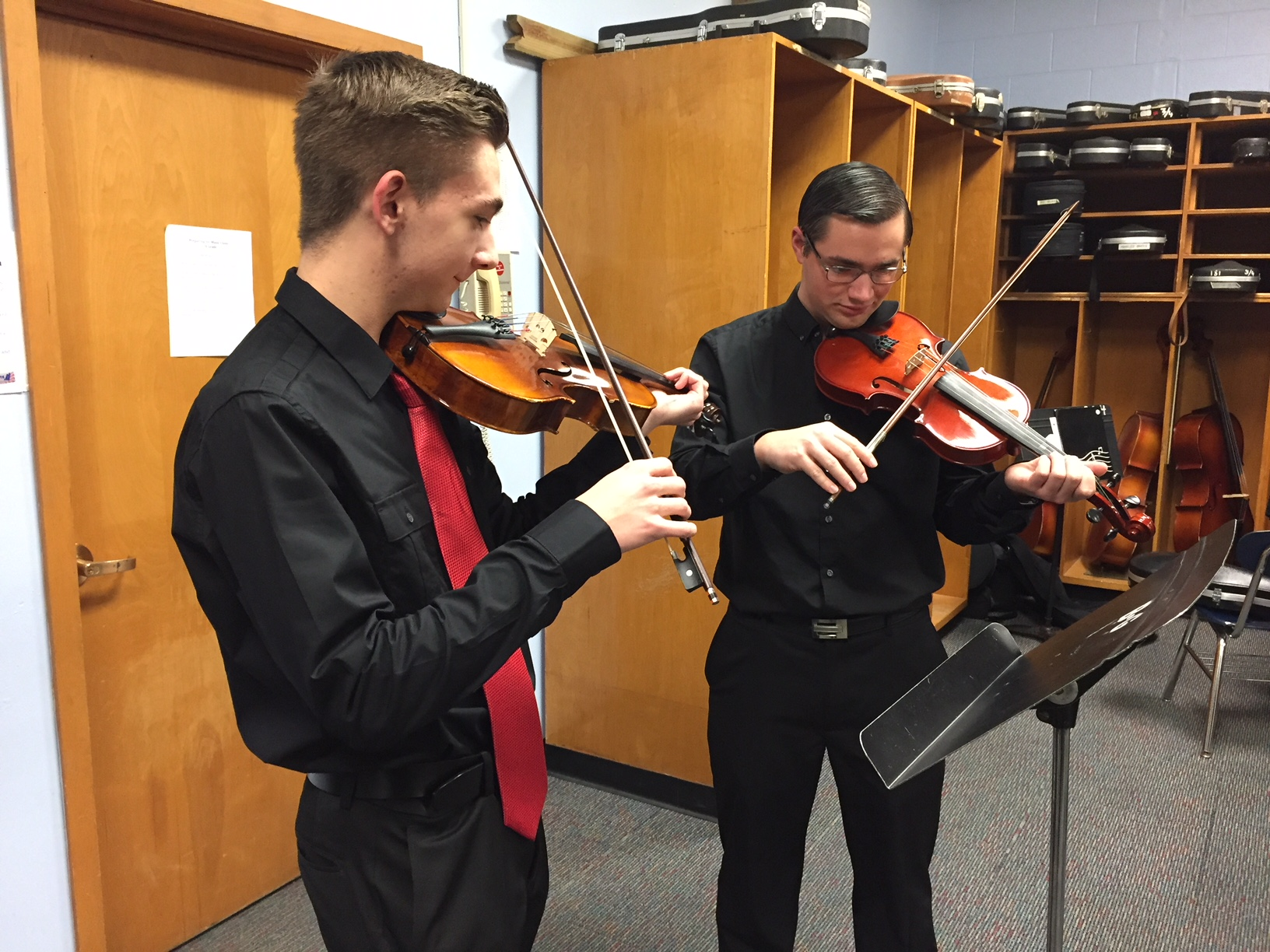 Two Violin Students