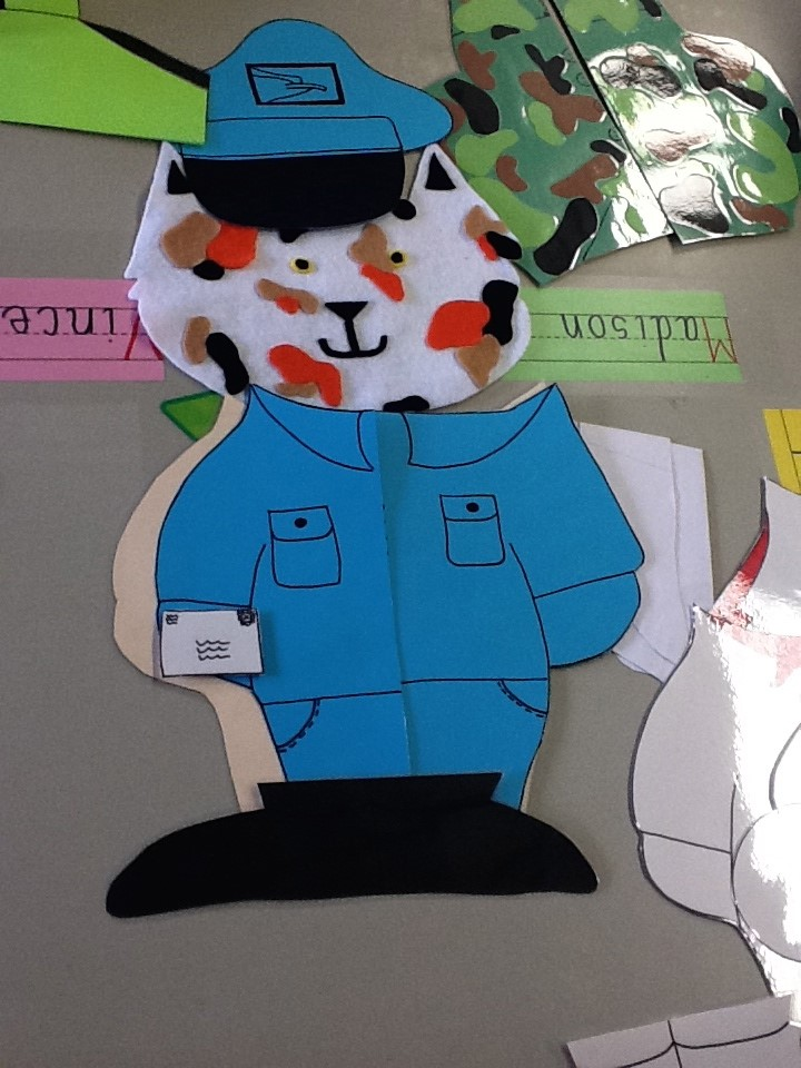 Pre-K explores careers with I-Care cat!