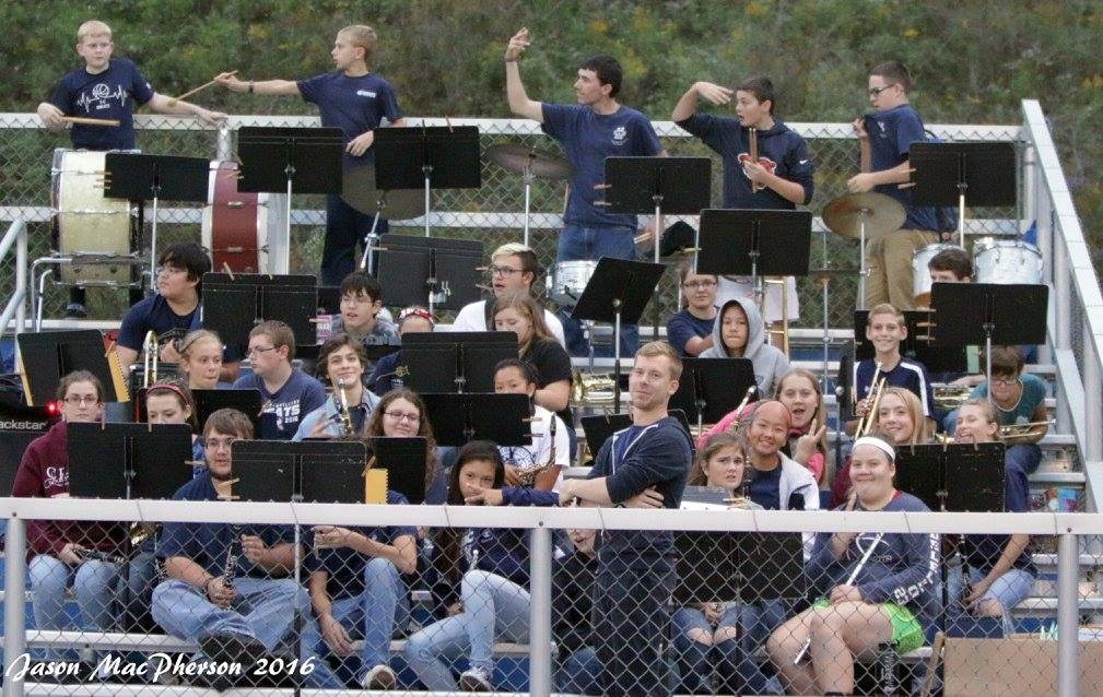 Pep Band in the football stands!