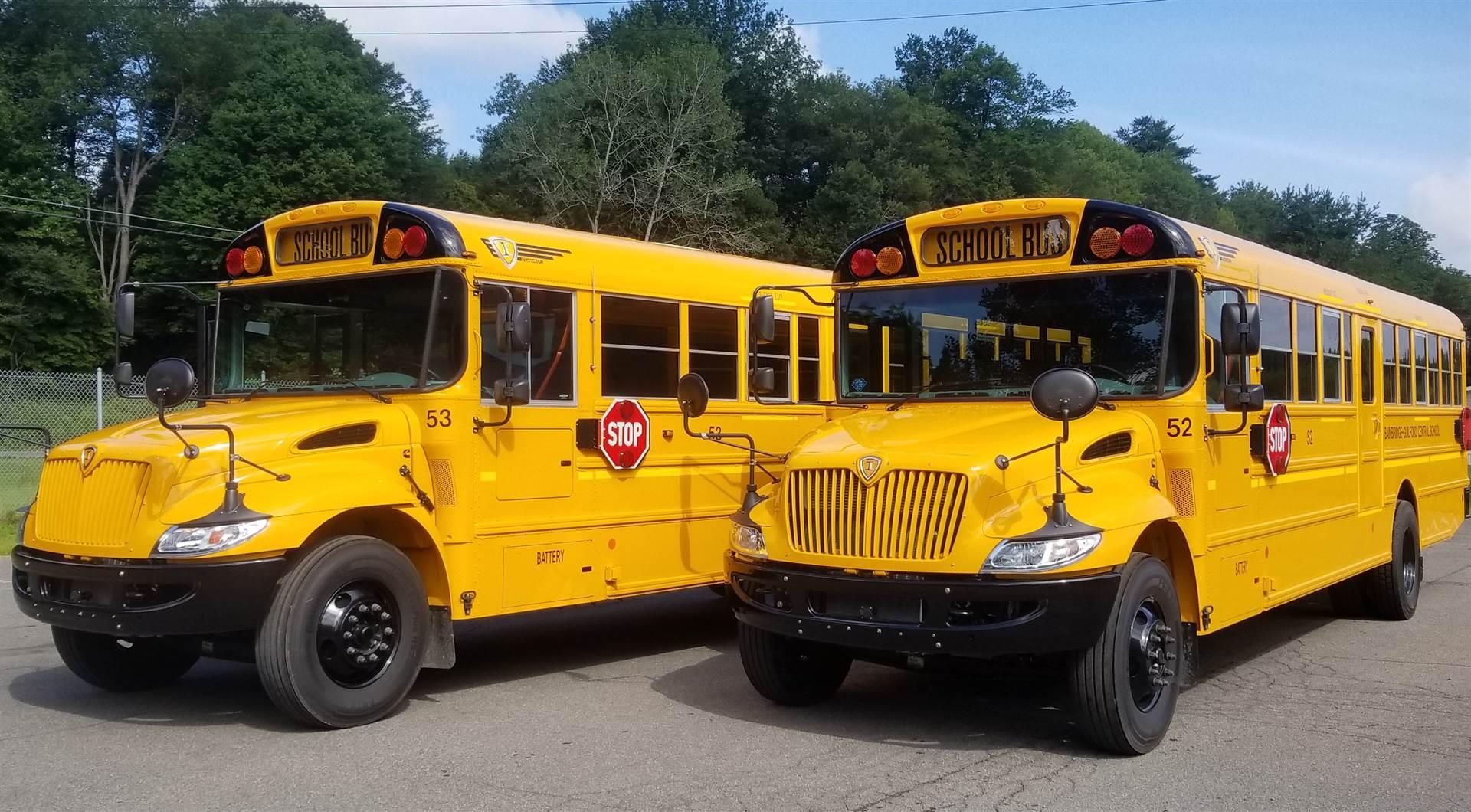 New diesel School Buses 52 and 53