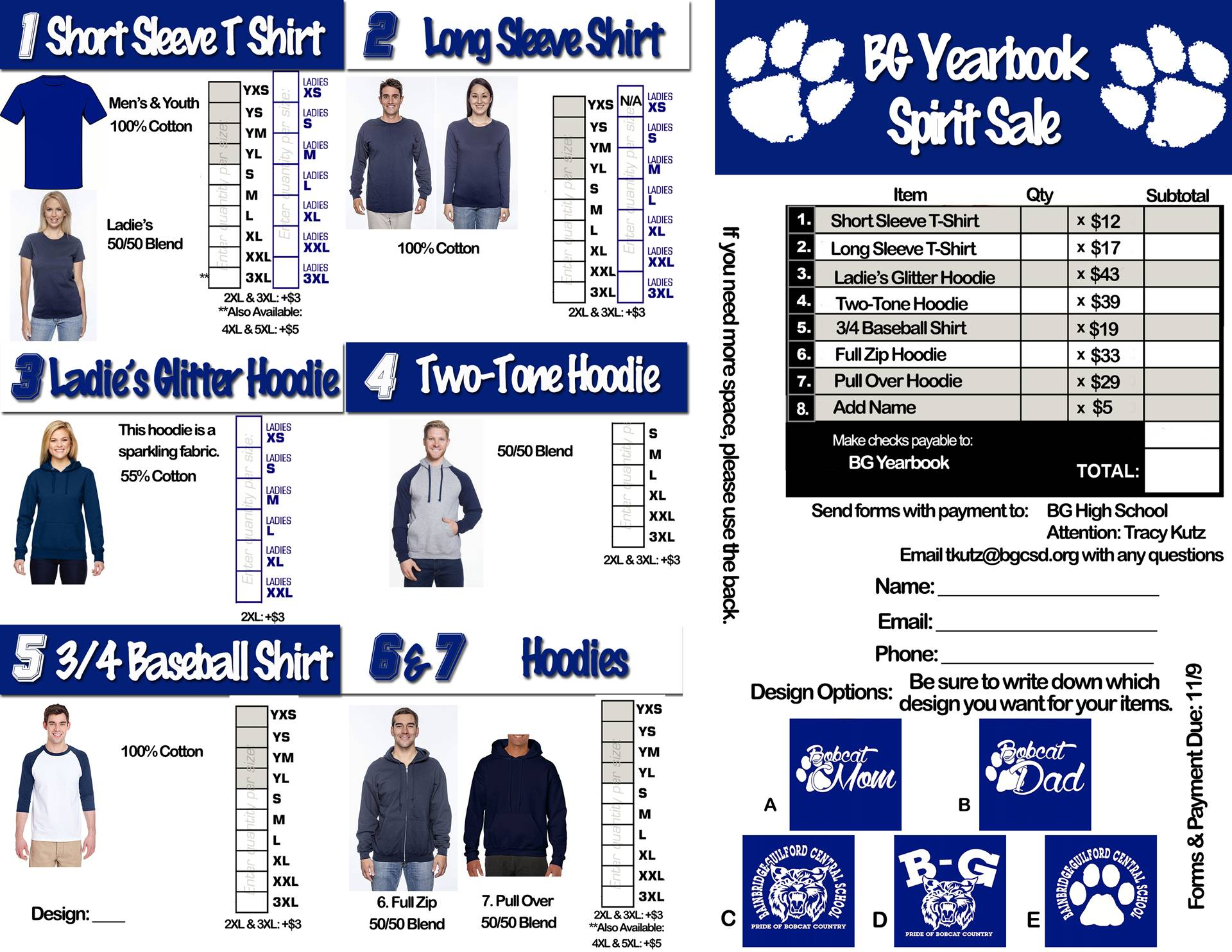 Order your Spirit Sale Items!!
