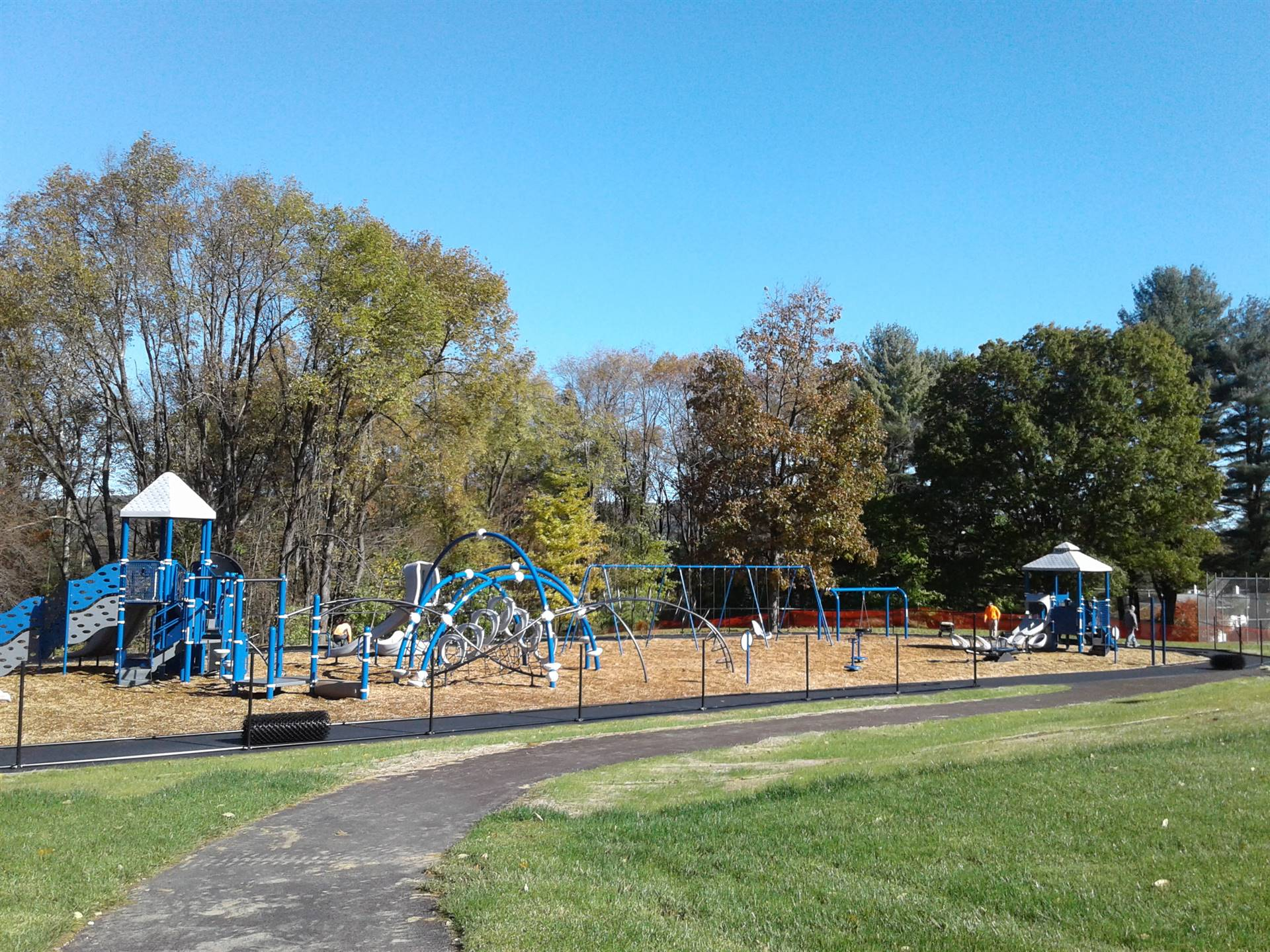 New Greenlawn Playground - view from the back of the building