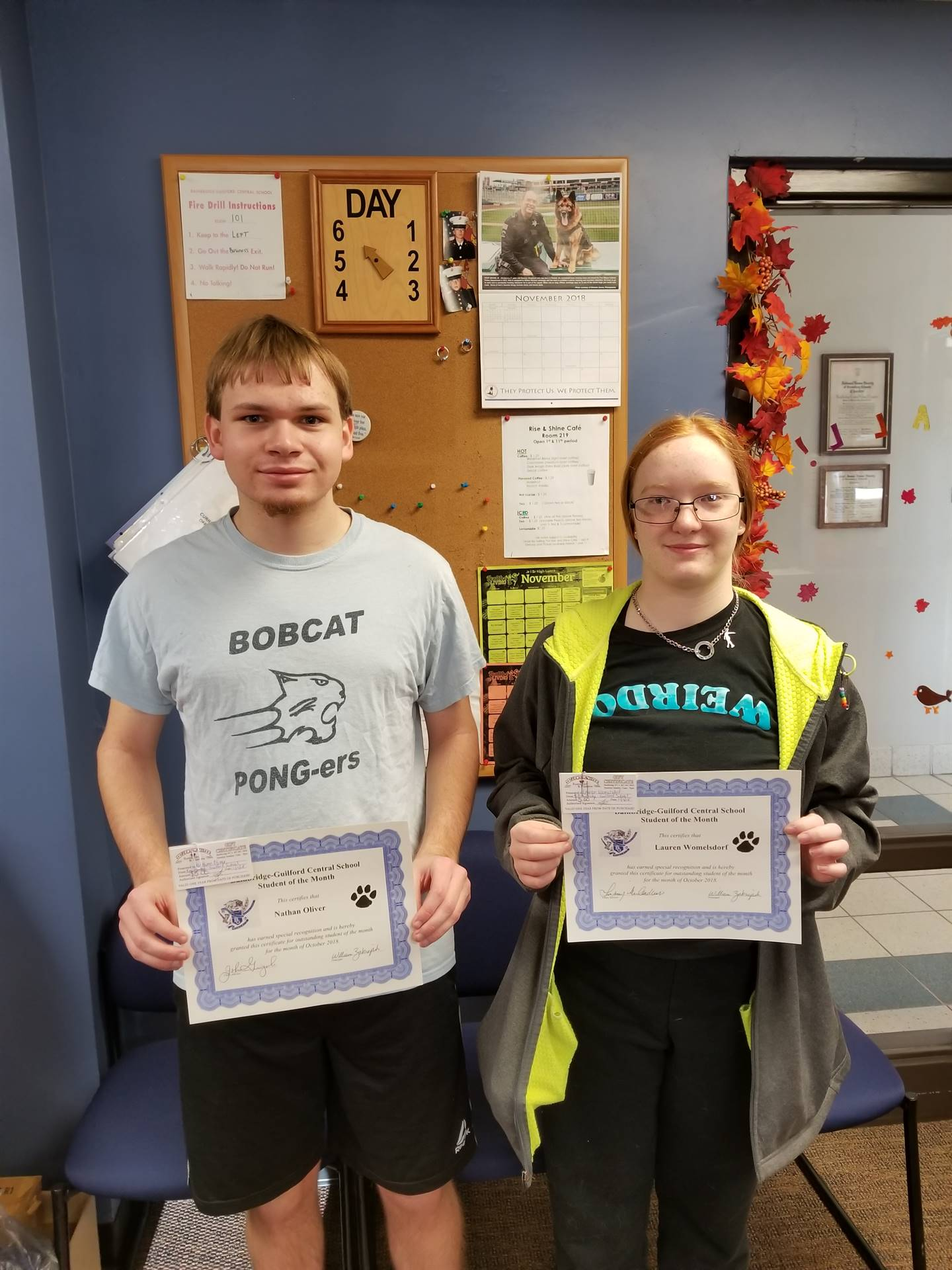 Students of the Month - Oct 2018