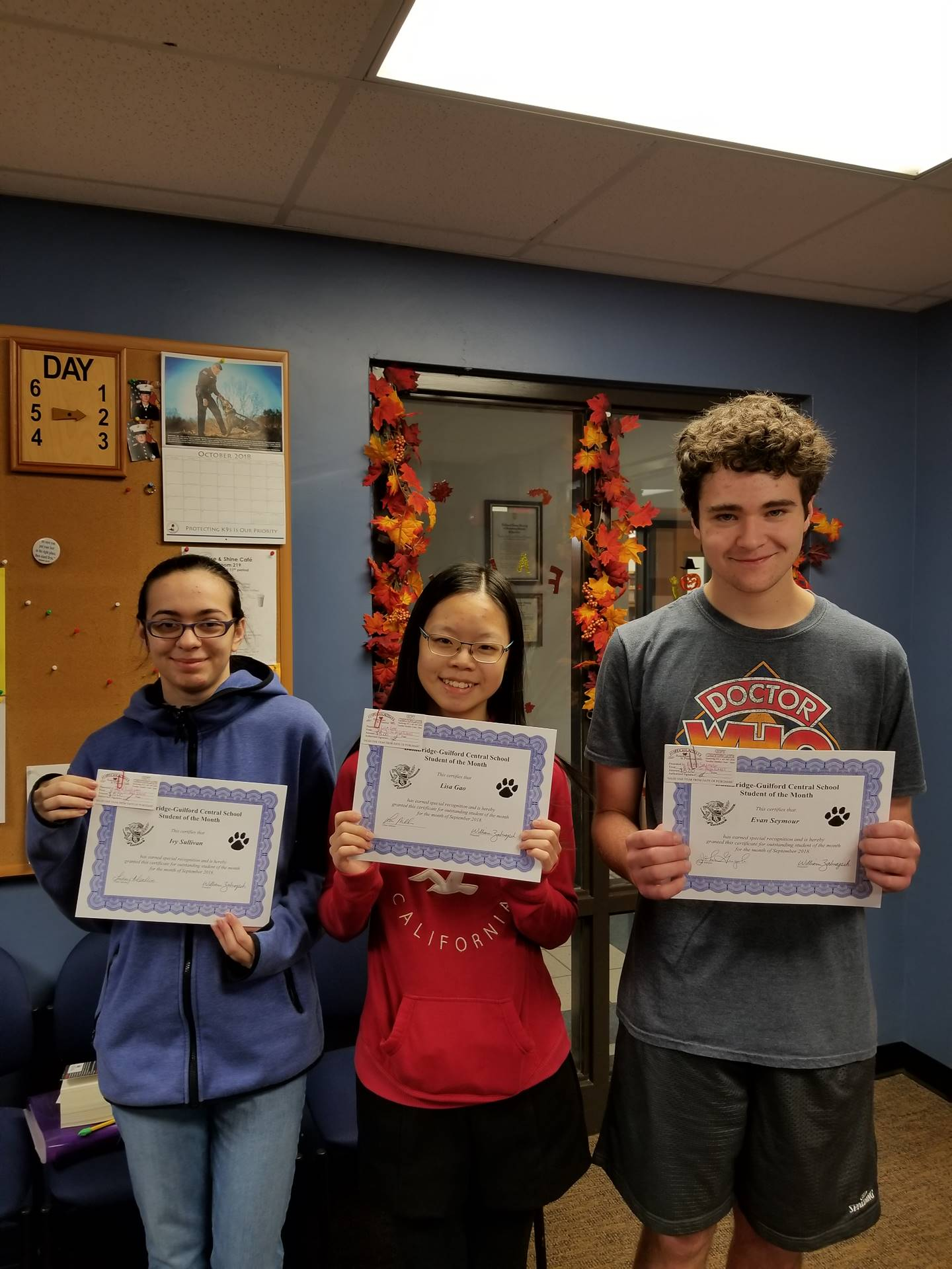 Students of the Month - Sept 2018