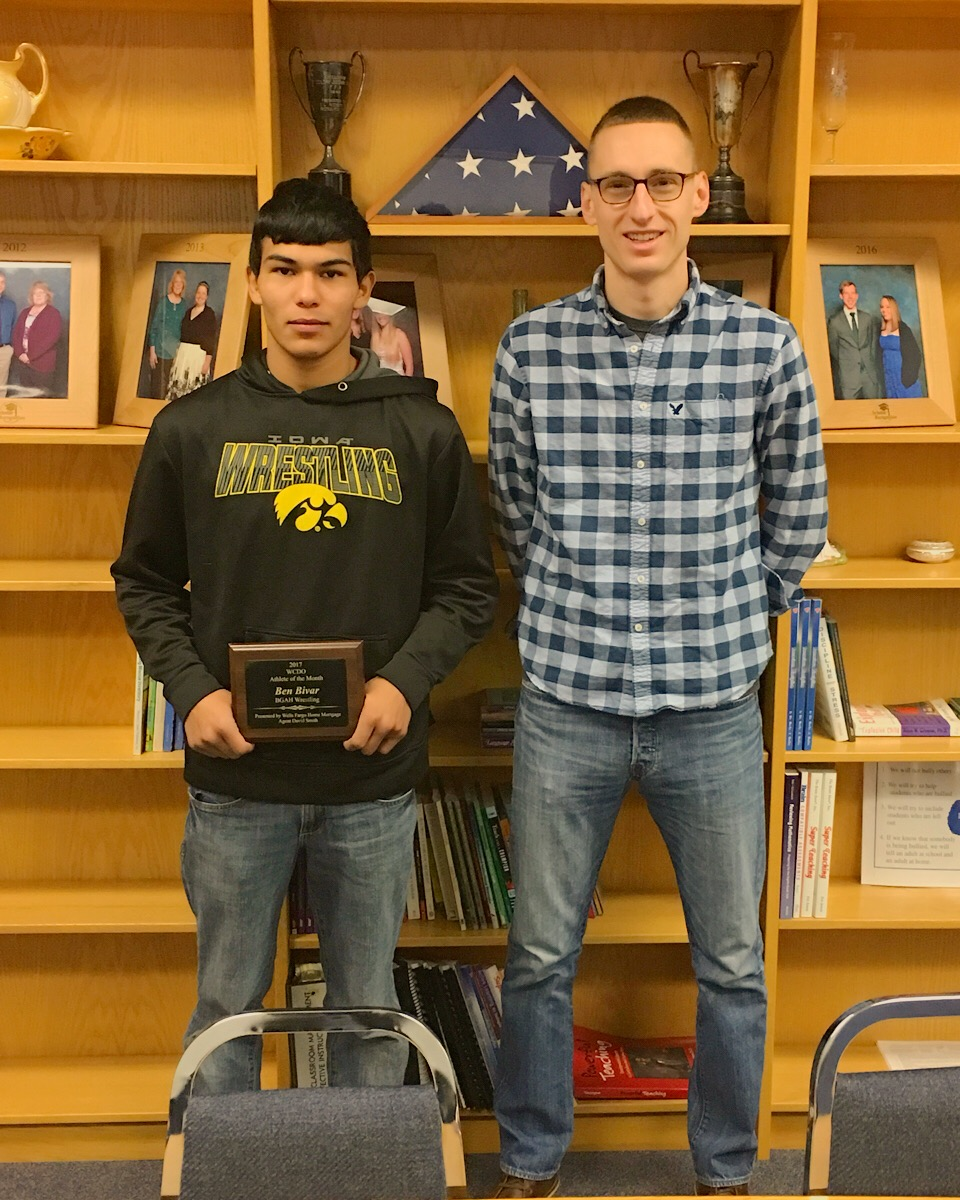 Ben Bivar, WCDO Athlete of the Month with Nate Lull.