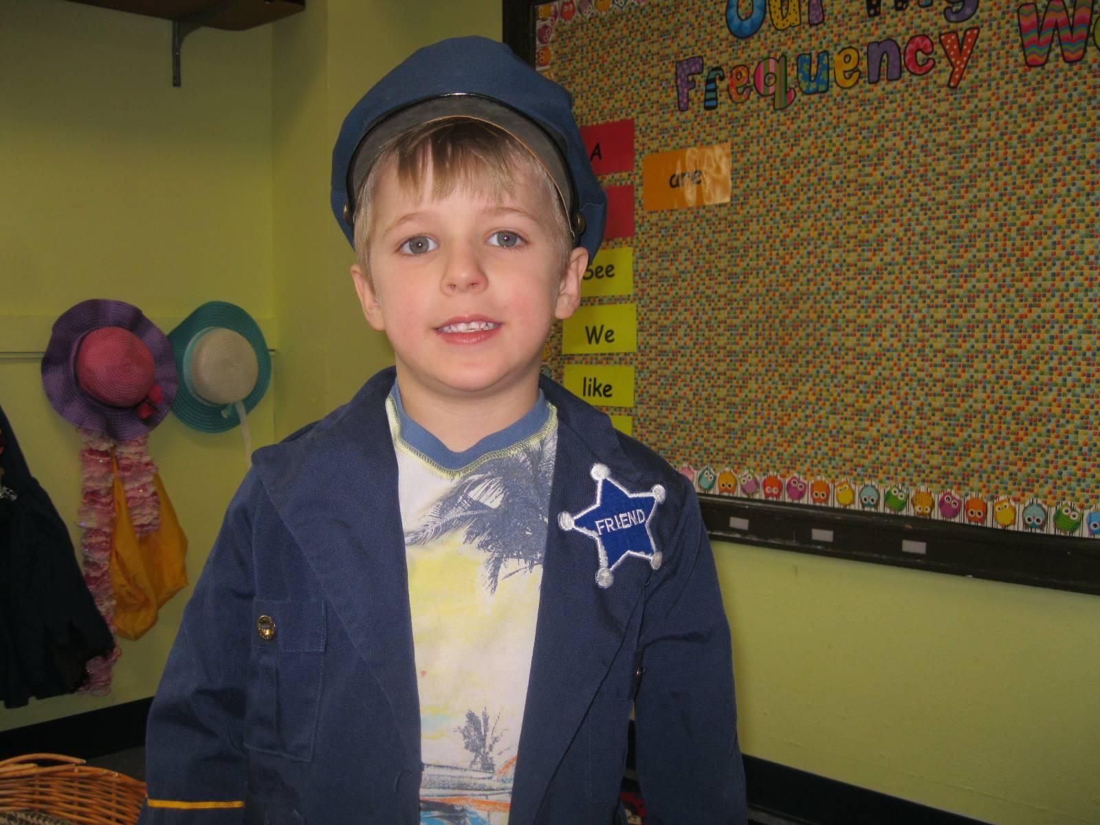 student dressed up.