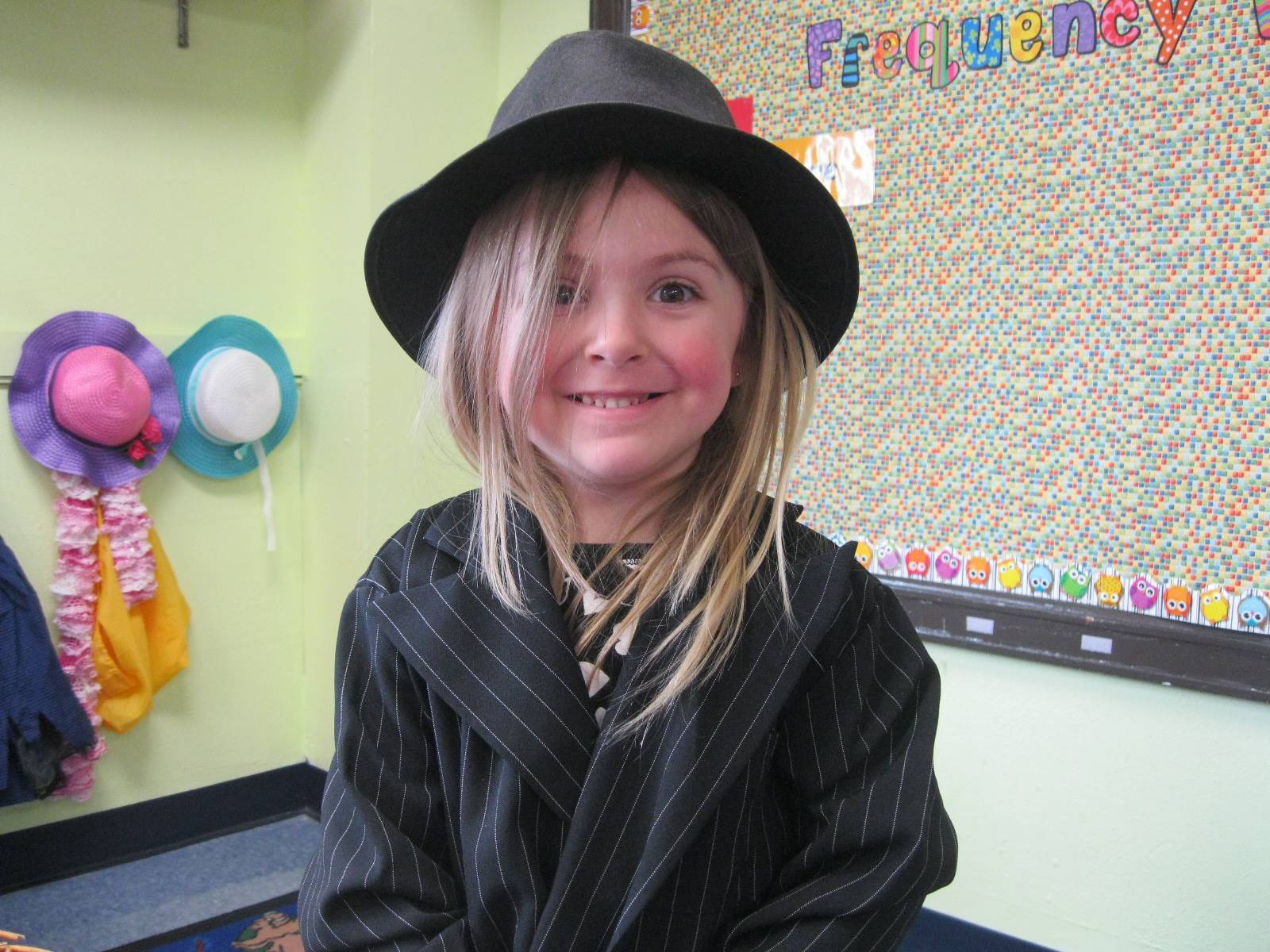 student dressed up as a detective.