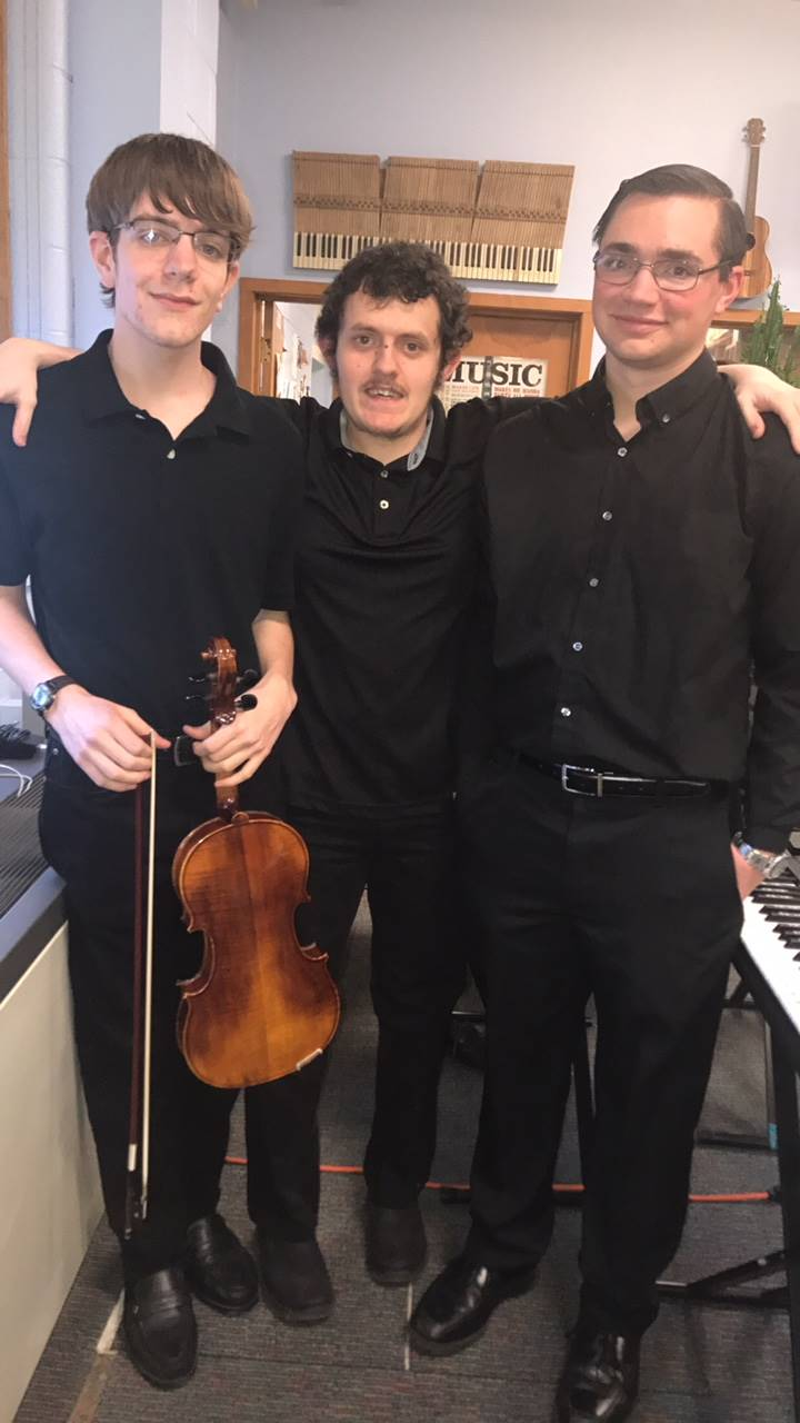 Three orchestra members