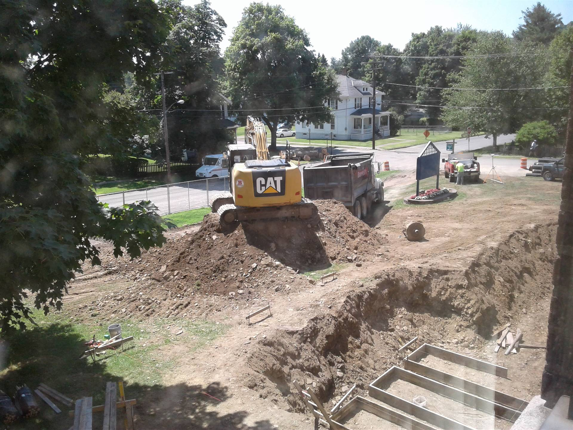 More Digging with the excavator!