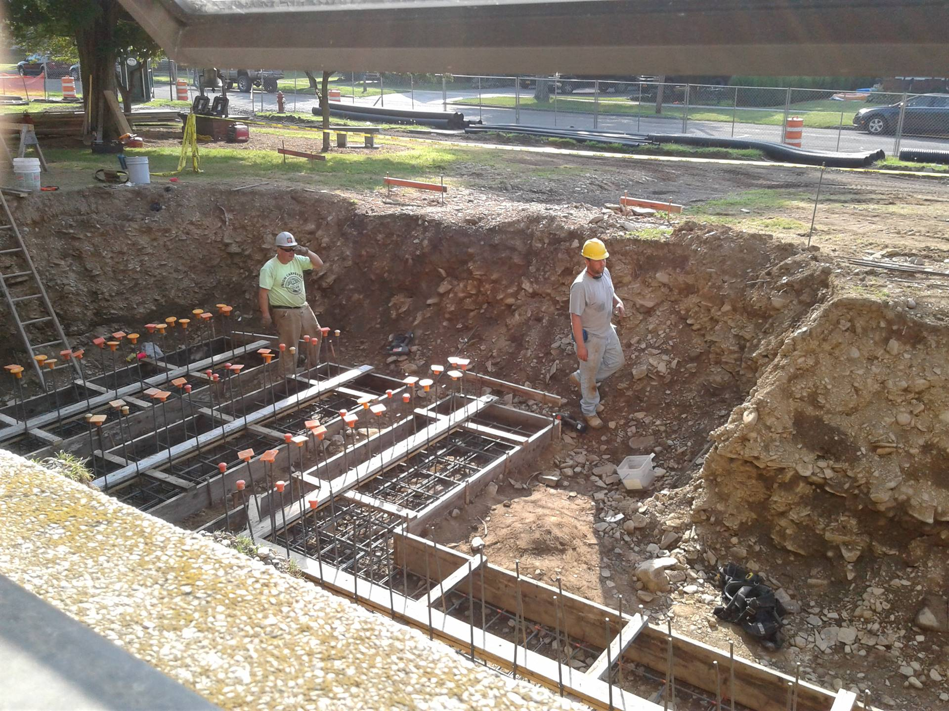 Getting ready to pour the concrete footers