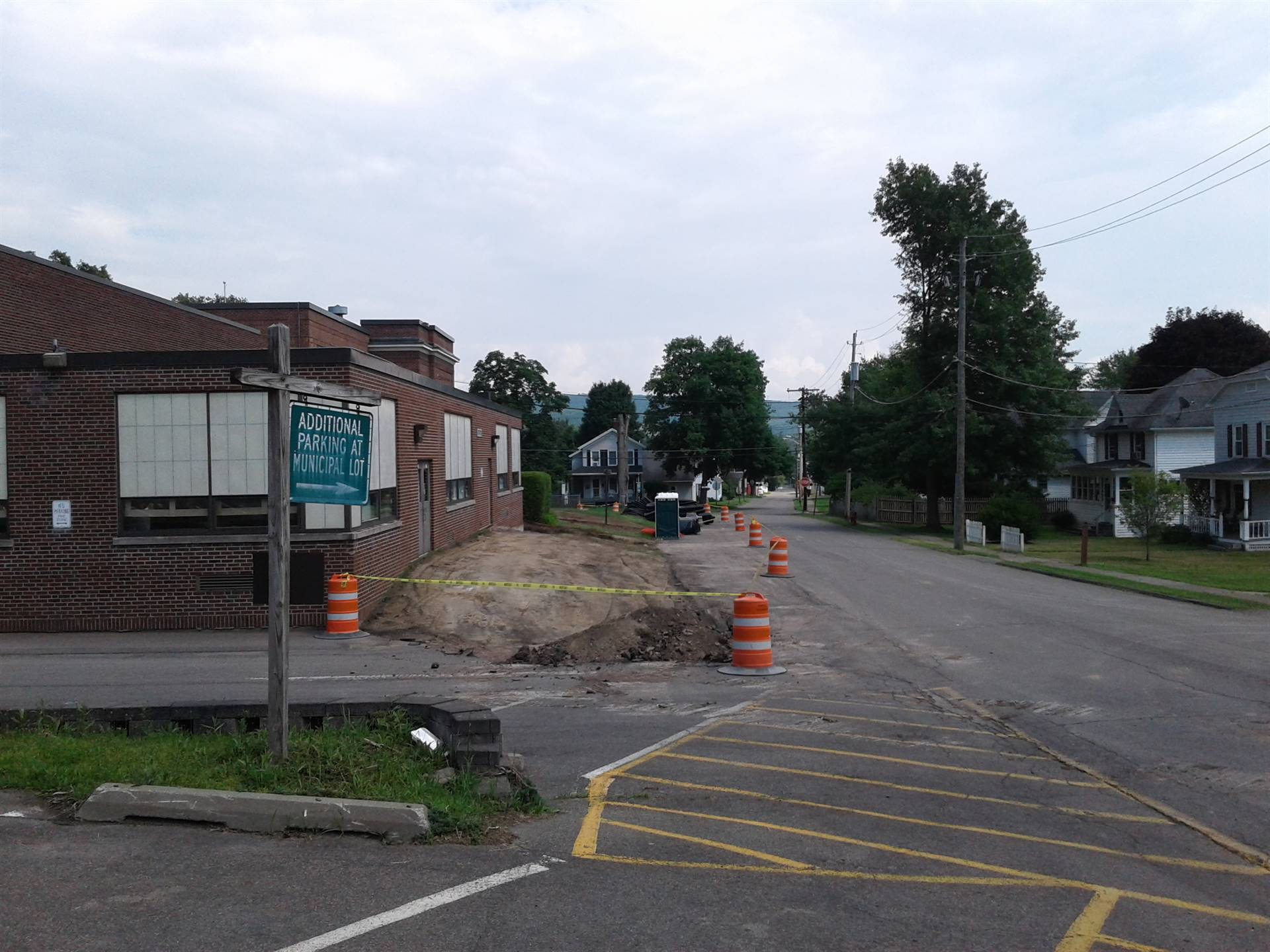 July 6 Parking area improvements on Walnut Street.