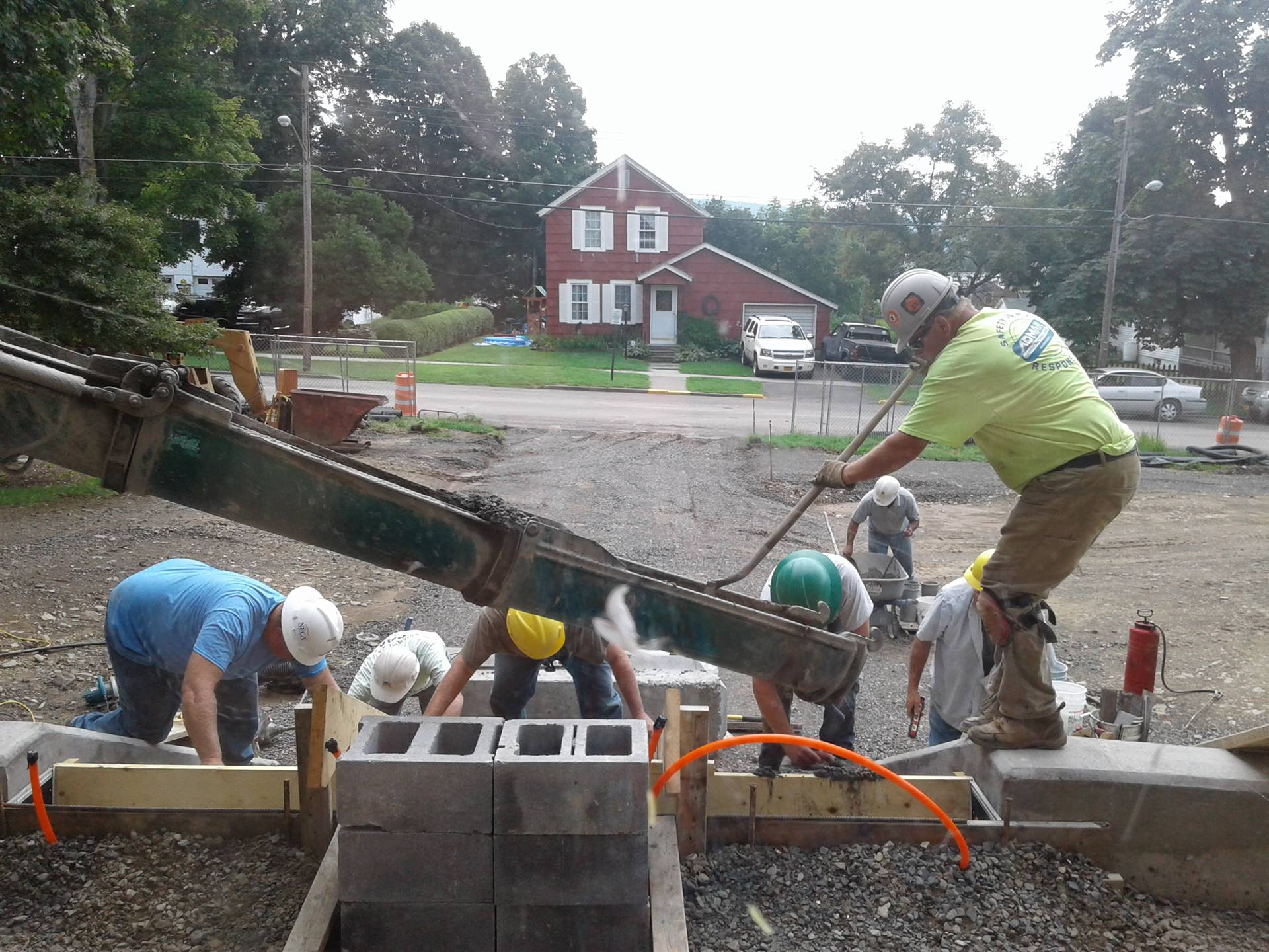 Week of Aug 10 - High School  - Pouring the front steps!