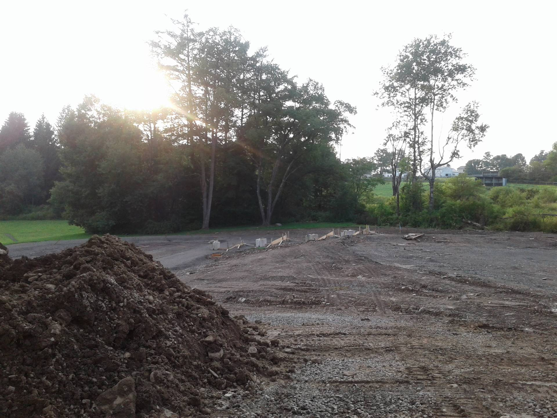 Aug 17 - Playground site work in Guilford