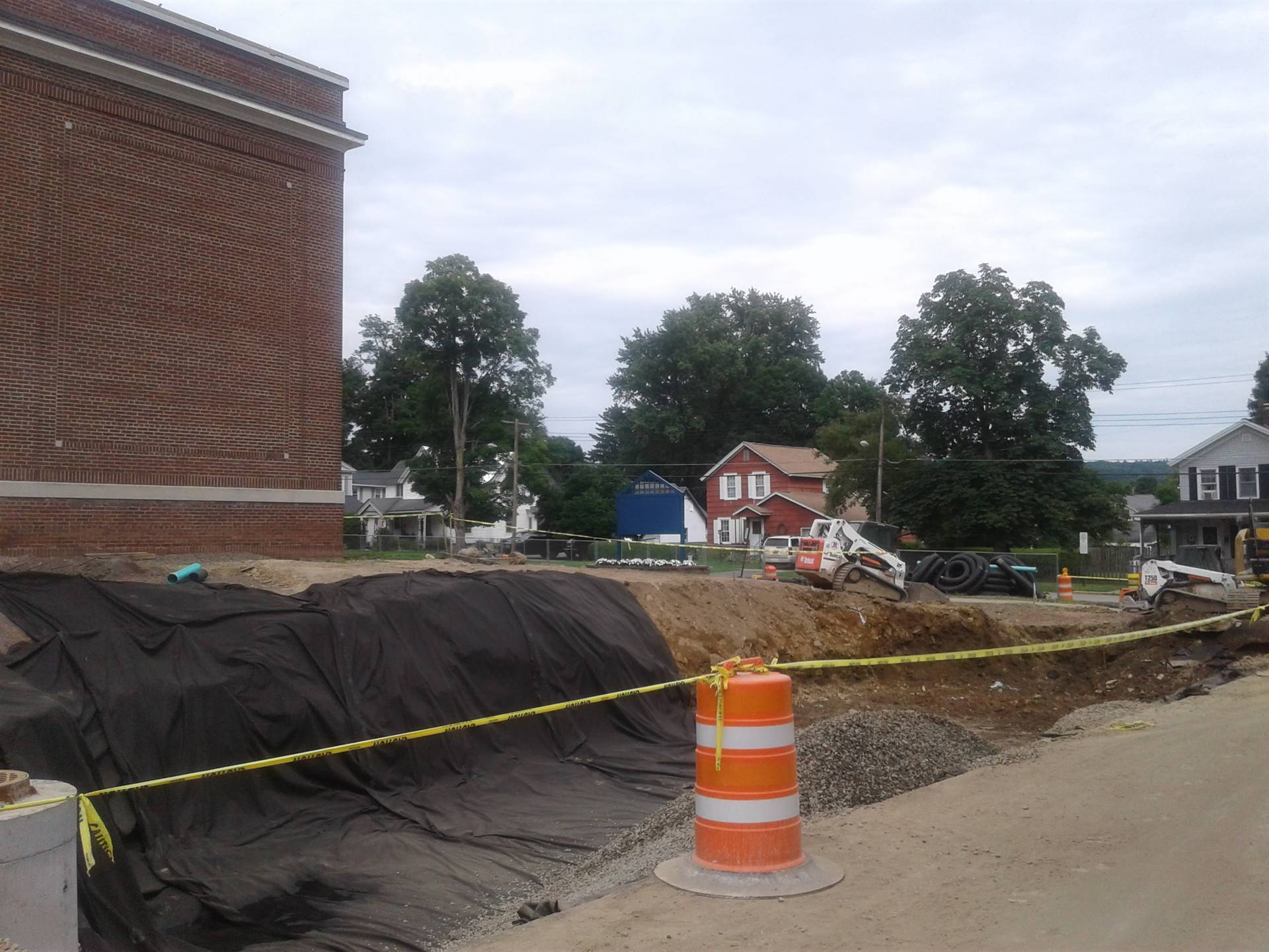 High School parking area and sidewalk on Walnut Street renovations