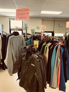 Bobcat Boutique - racks of coats