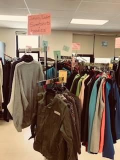 Bobcat Boutique - racks of coats