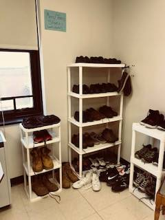 Bobcat Boutique - racks of shoes