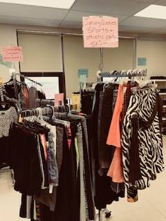 Bobcat Boutique - racks of clothes
