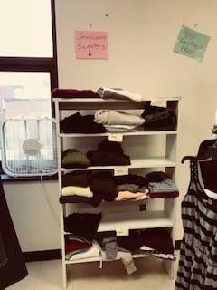 Bobcat Boutique - racks of clothes