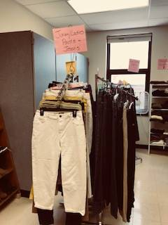 Bobcat Boutique - racks of pants