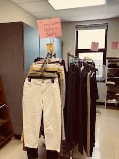Bobcat Boutique - racks of pants
