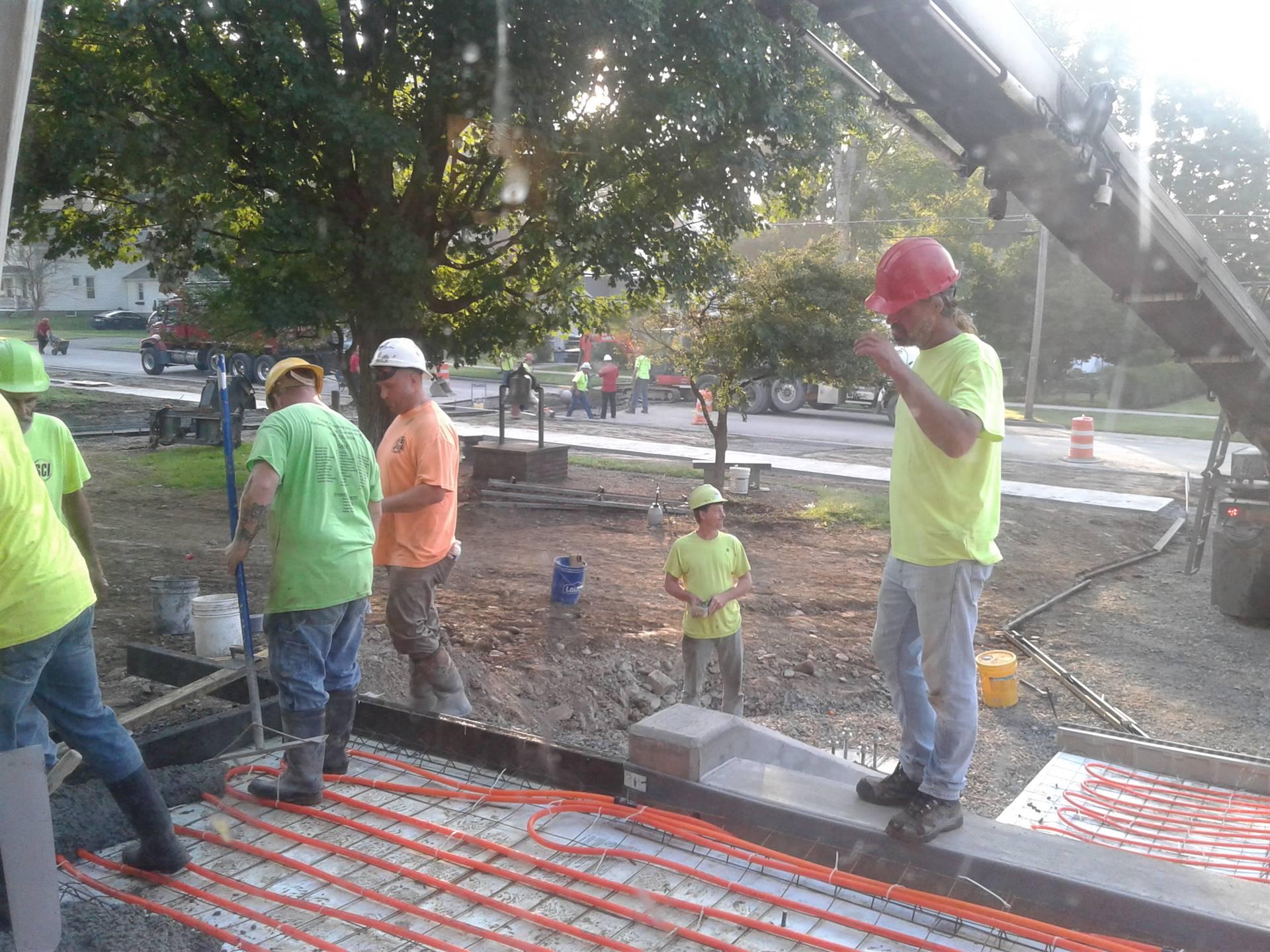 Week 9 - Capital Project - HS Front Steps - Pouring Concrete!