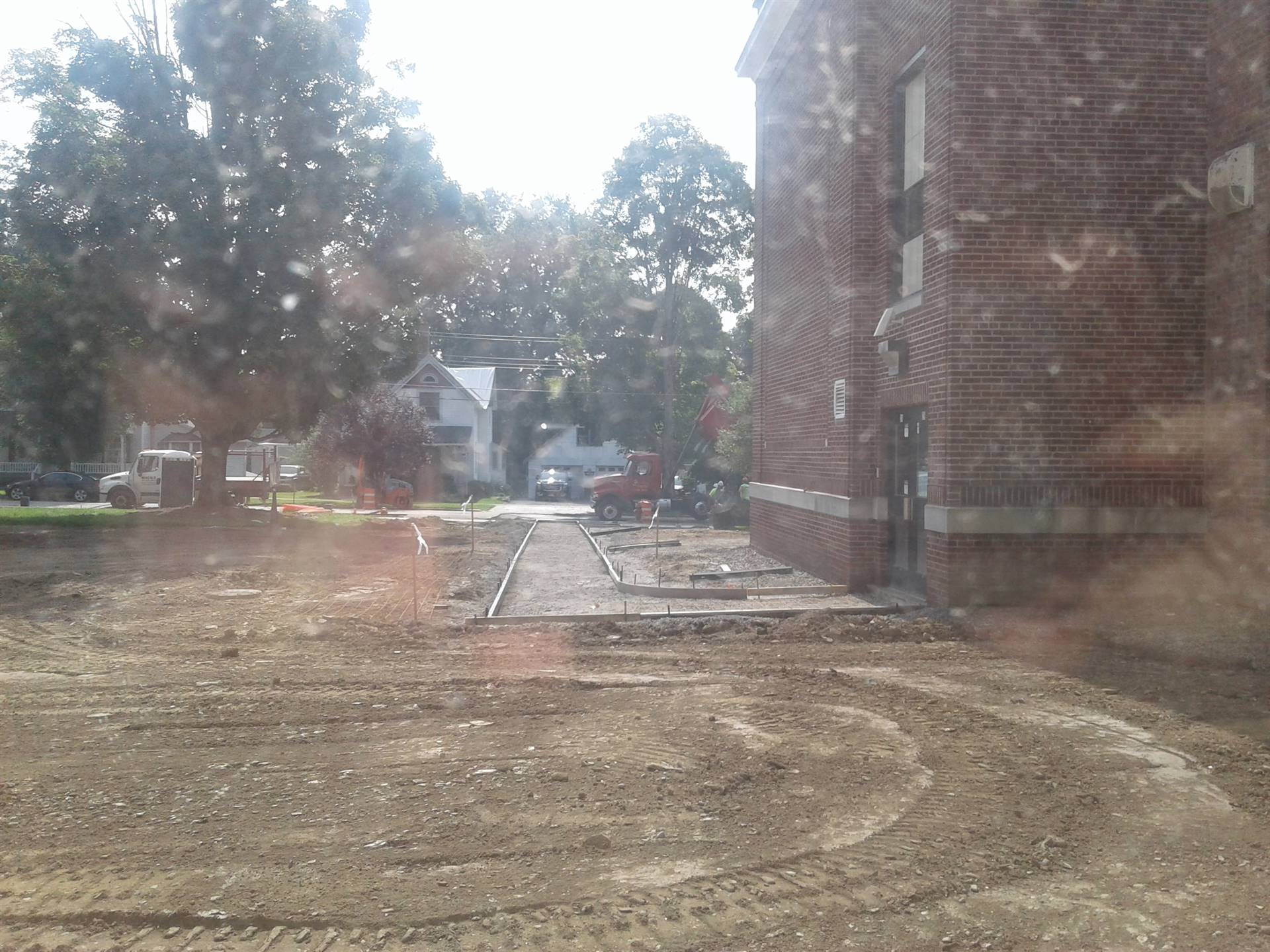 Week 9 - Capital Project - HS  - Pouring Sidewalks!