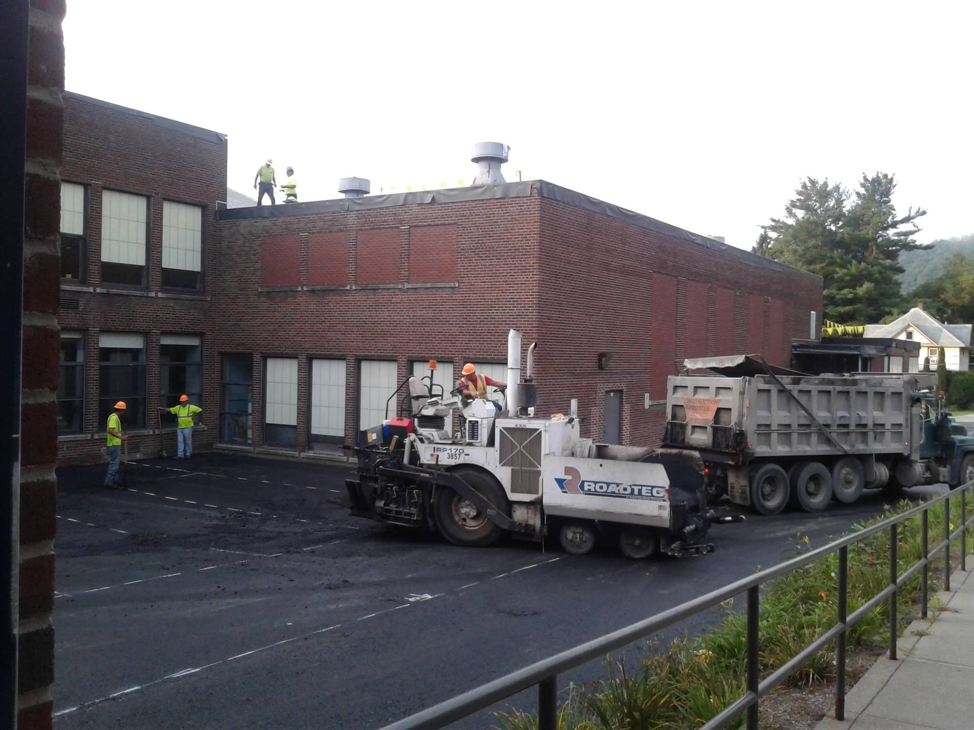 Week 9 - Capital Project - HS  - Final Paving of the Parking lot!