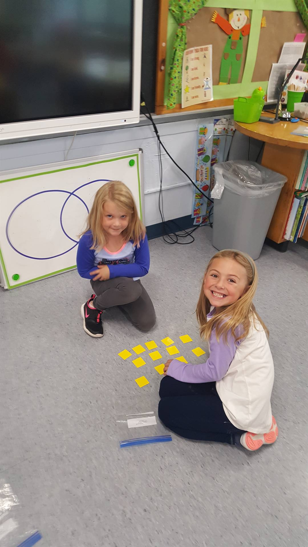 2 first graders working together!