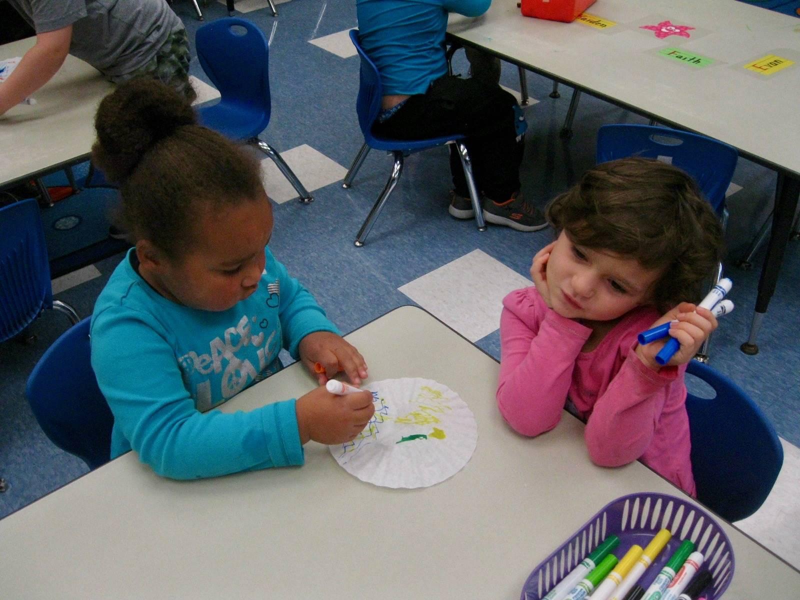 2 student color together
