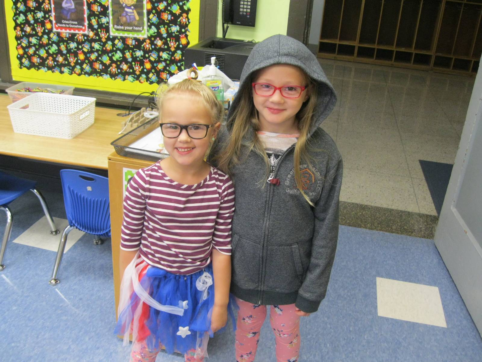 2 students for crazy dress up day.