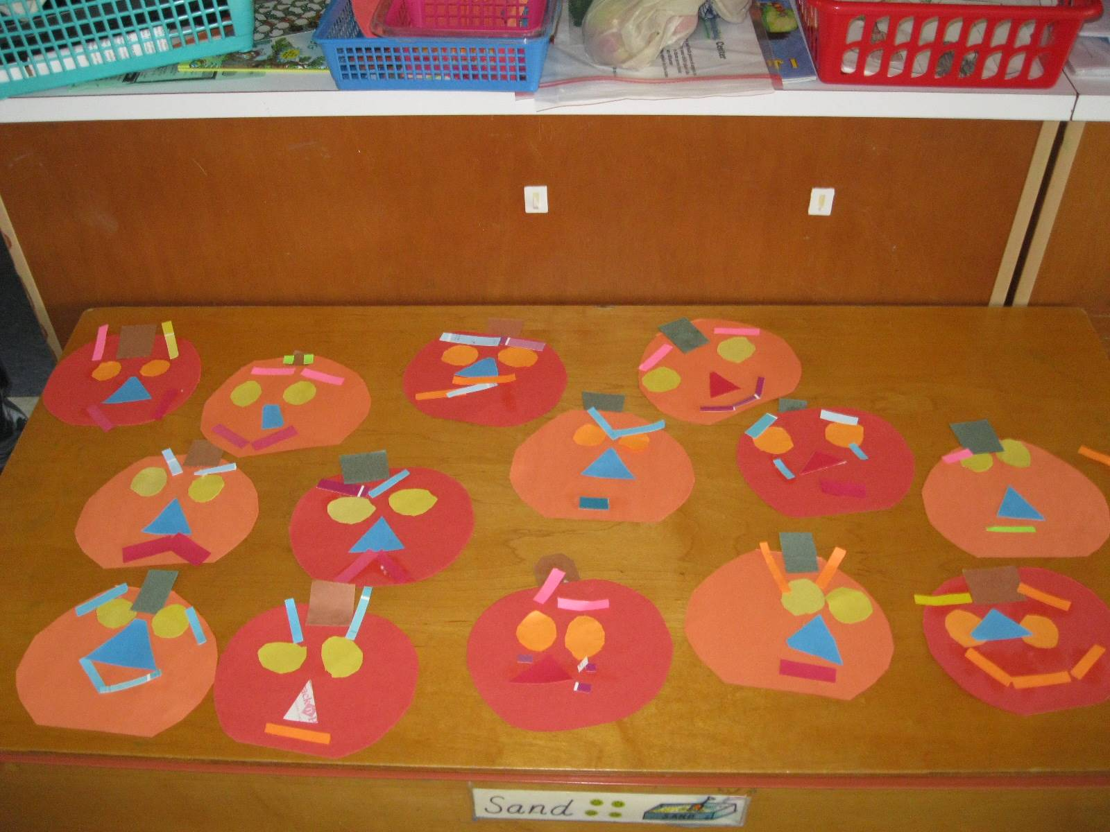 Paper pumpkin emotions by Pre k