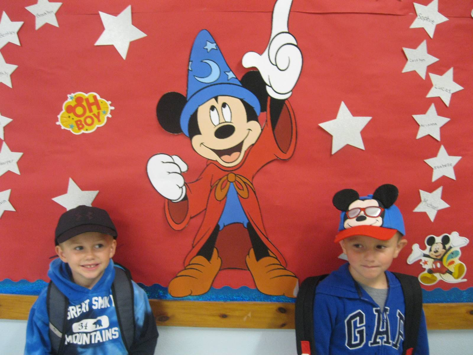 Mickey Mouse and 2 friends with hats!