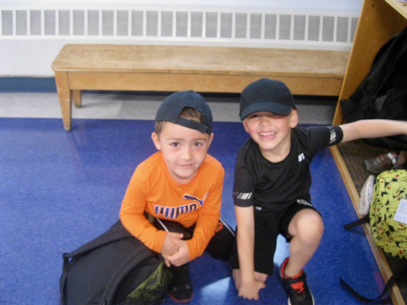 2 students with hats