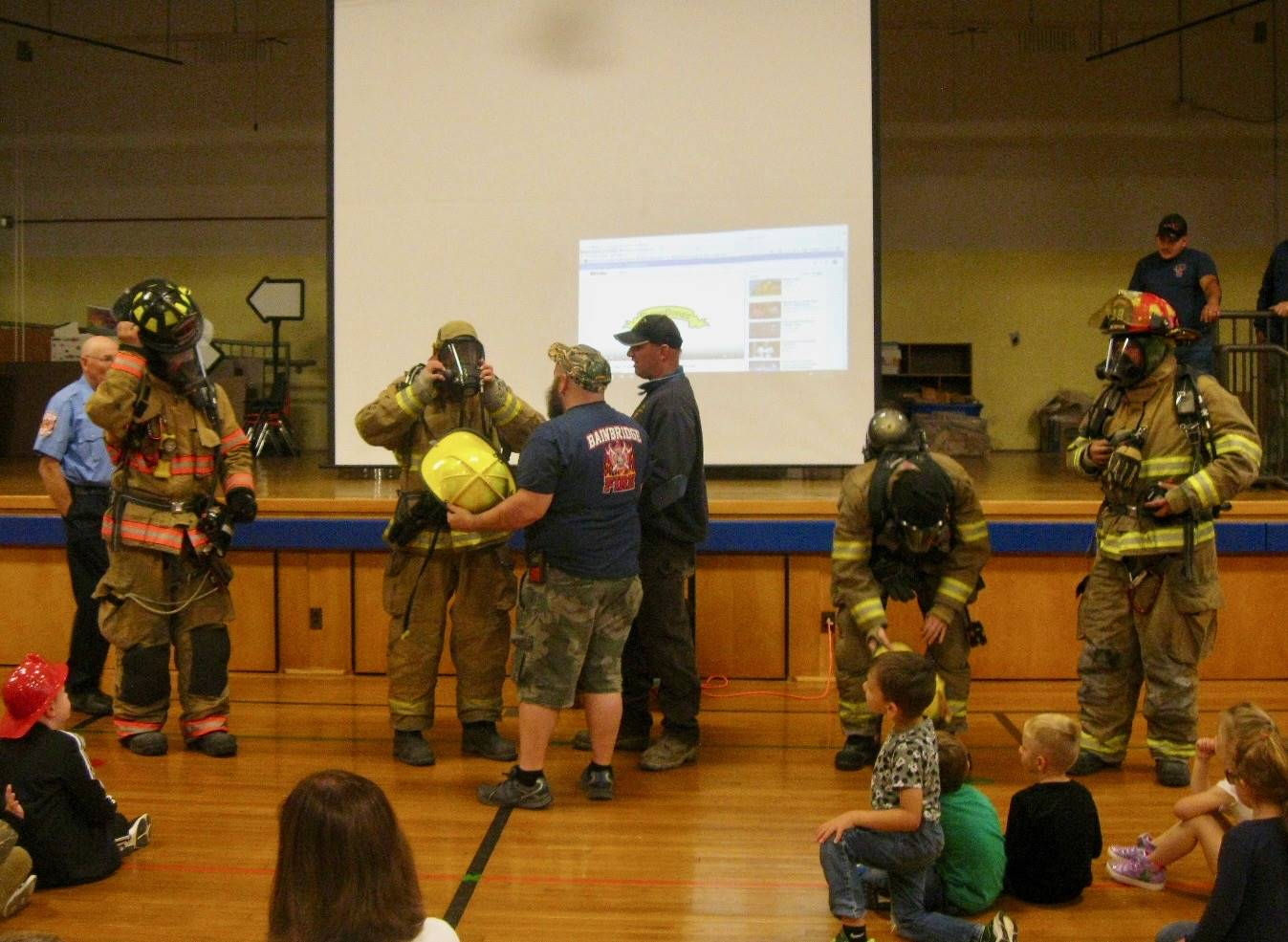 Firefighters visit Guilford.