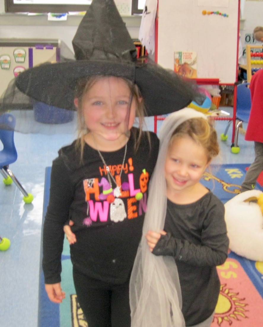 A witch and bride.