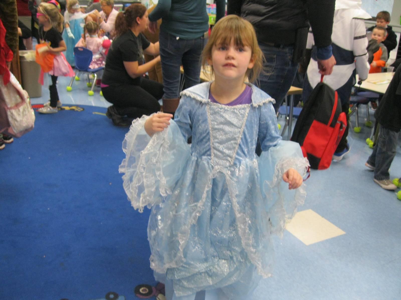 A princess in blue!