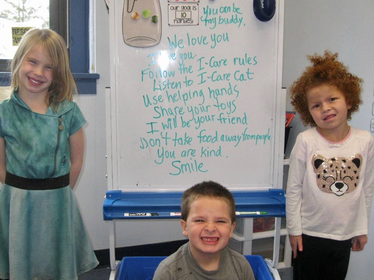 3 students by responses to Mr. Grinch