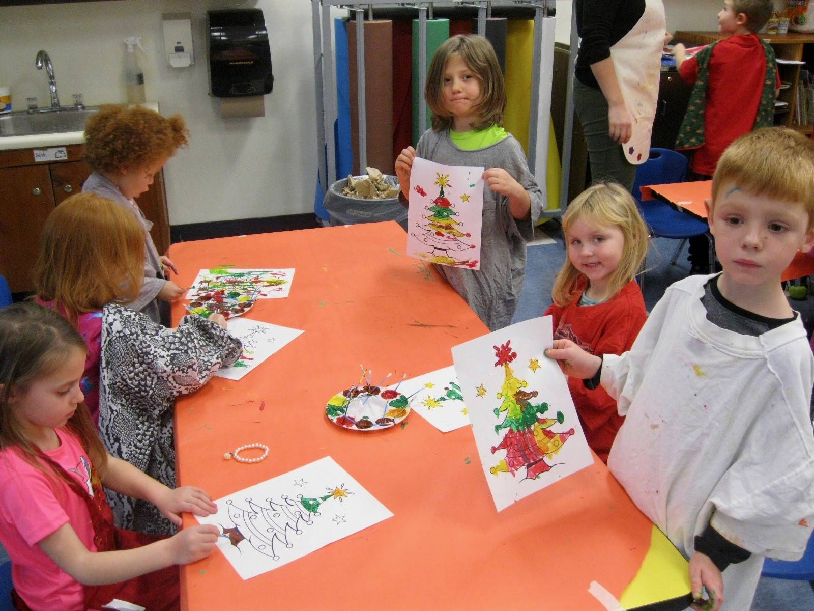 6 students show off their art pieces!