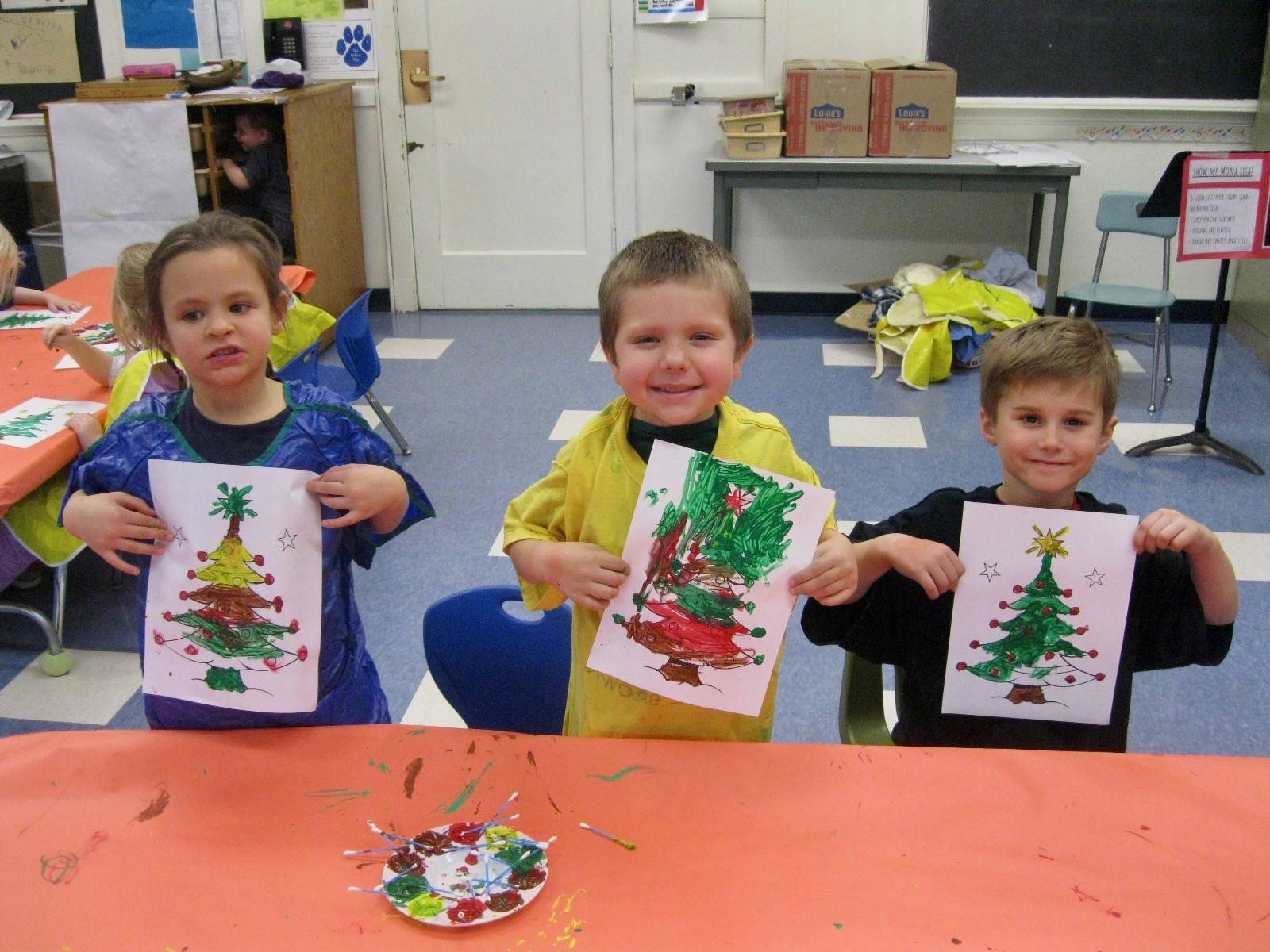 3 students show off their art pieces!