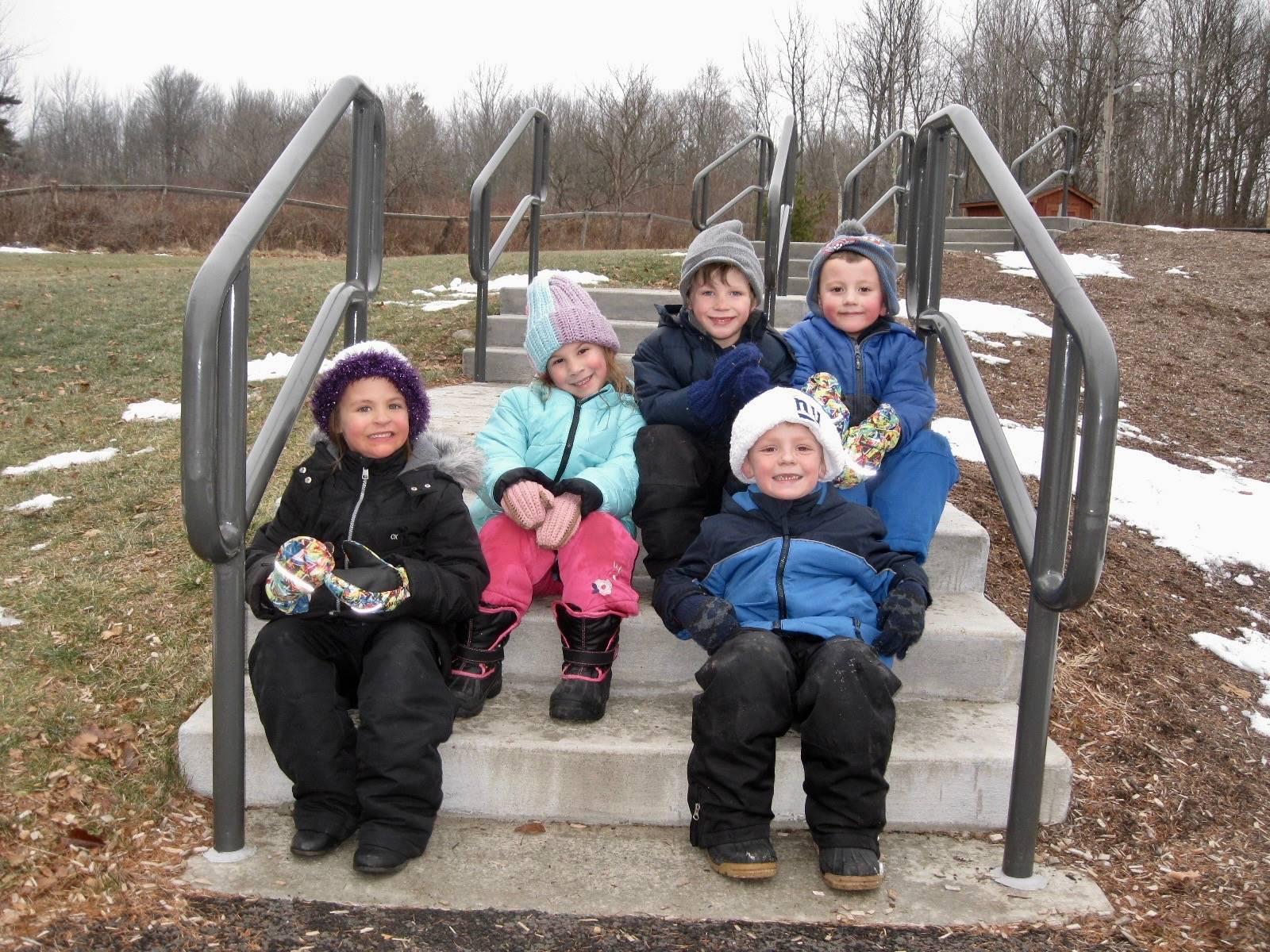 5 students at recess.
