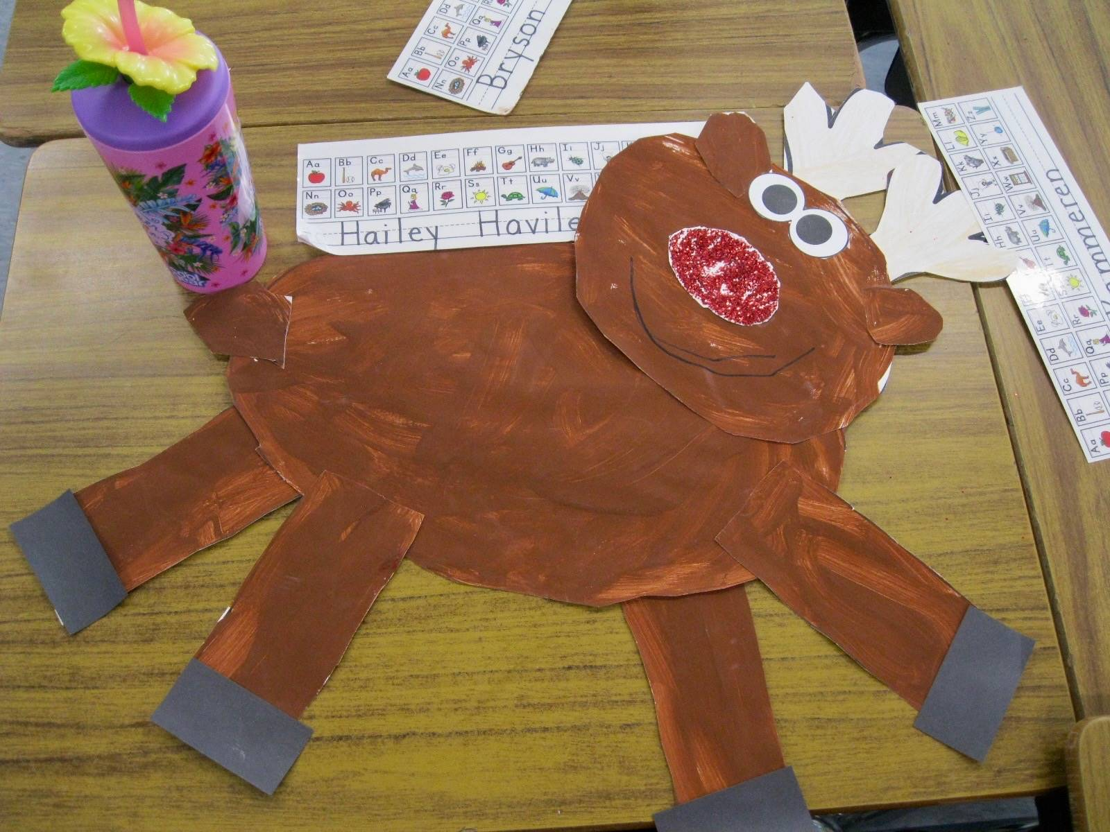A paper reindeer.