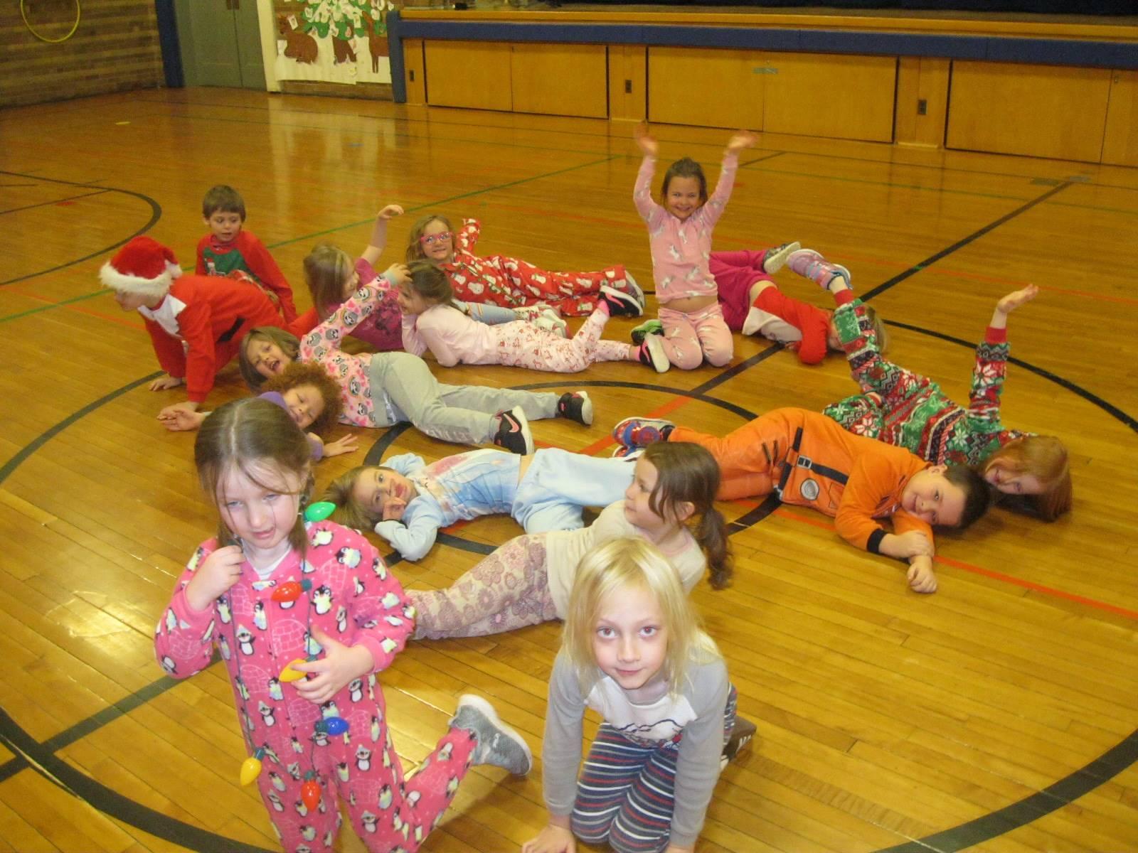 A class on Pajama day!