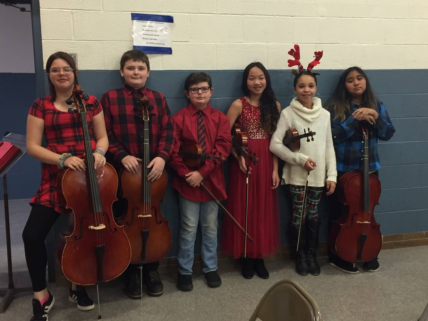 5th and 6th Grade Cellists and Violist