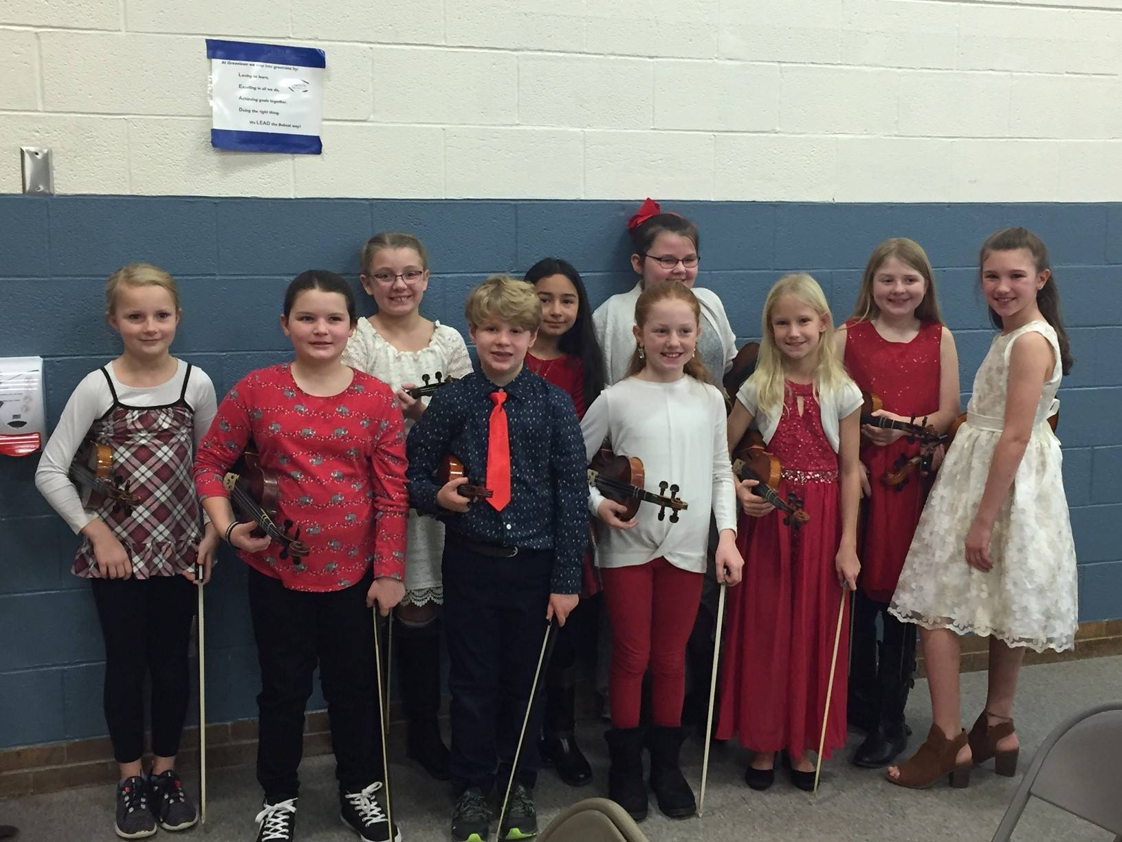 4th Grade String Students