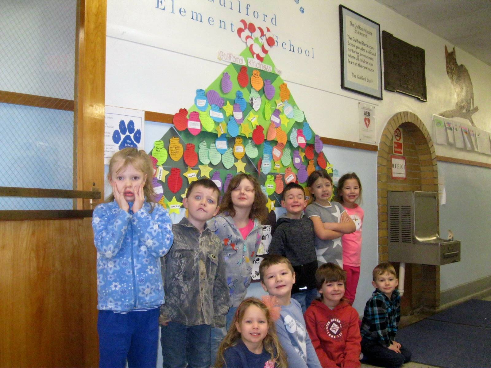 Students by our Kindness Tree.